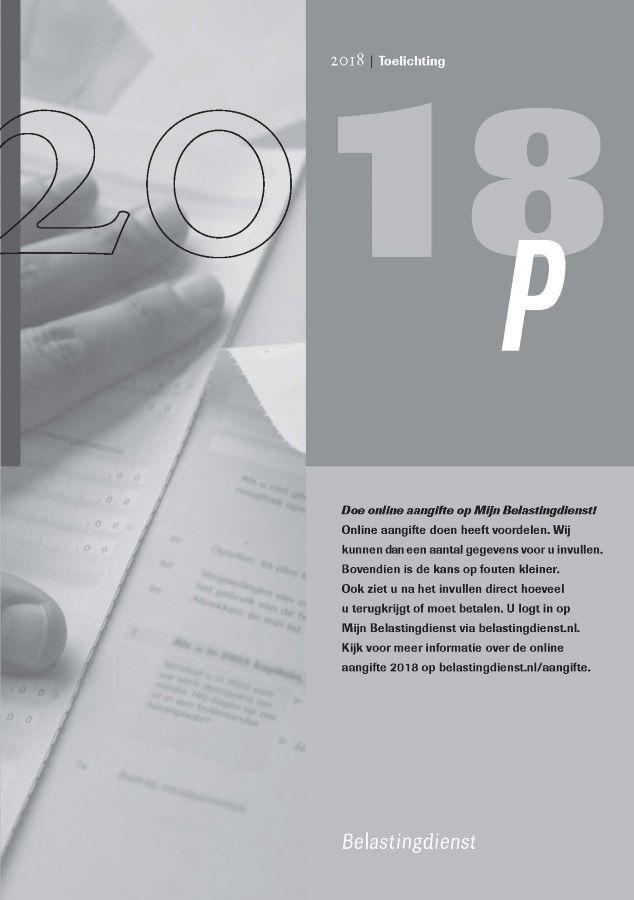 Titelblad van de Inkomstenbelasting Toelichting P-biljet (XML)